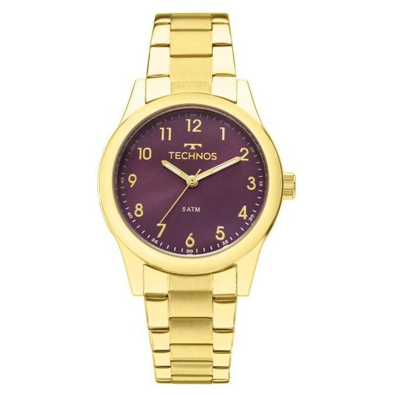 Relógio Technos Feminino Elegance Dourado 2035mkm/4g