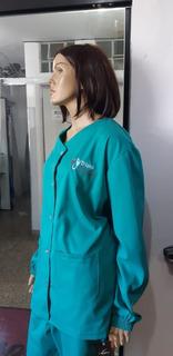 3 Pijama Cirúrgico Brim Unissex Personalizado Bordado Logo