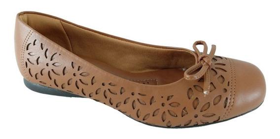 Sapatilha Feminina Sapatoweb Confort Marrom - 022823linh