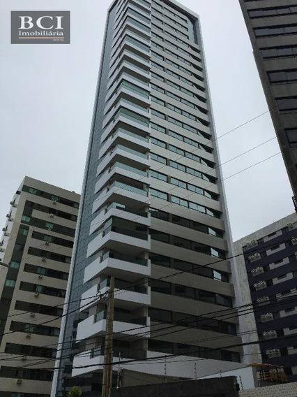 Apartamento Com Alto Padrão 4 Dormitórios Para Alugar, 185 M² Por R$ 10.000/mês - Boa Viagem - Recife/pe - Ap0331