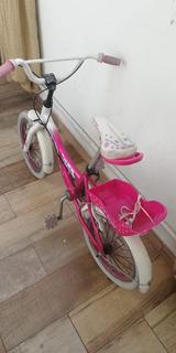 Bicileta De Niña Rodado 14 Con Porta Muñecas