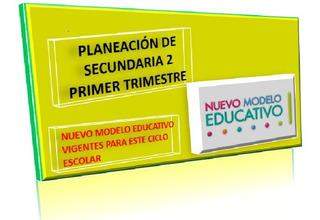Planeación Secundaria 2° 1er Trimestre 2019-2020