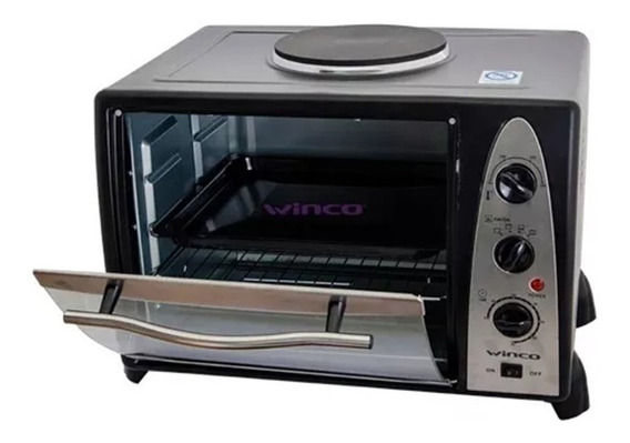 Horno Electrico Winco W37 Con Anafe Superior 36 Litros 2600w