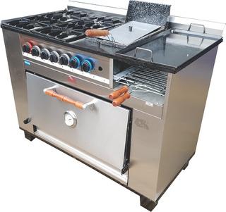 Cocina Múltiple 4h + Plancha + Fritera - 115 Cm