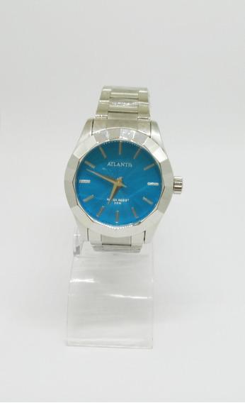 Relógio Feminino Atlantis Fundo Azul