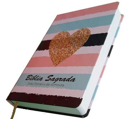 Bíblia Sagrada Feminina  Listrada Coração Capa Dura