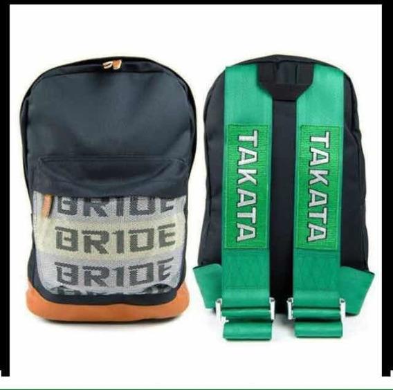Mochila Jdm Bride Takata Racing Corrida Drift