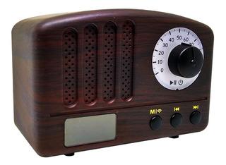 Parlante Portatil Bluetooth Radio Vintage Retro Fm Sd Usb