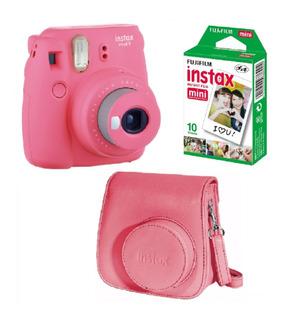 Combo Instax Mini 9 Selfie 10 Fotos Funda Carterita Original