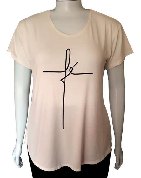 Blusa Camiseta Feminina Plus Size Moda Evangélica Cristã