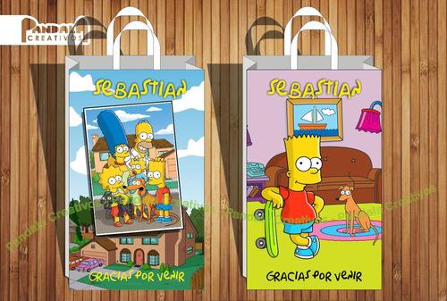 Bolsitas Para Sorpresitas Los Simpsons X10