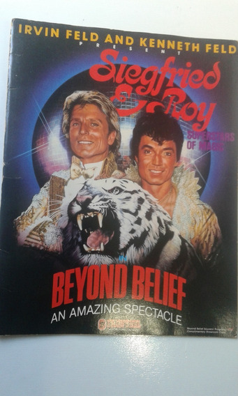 Livro - Siegfried & Roy - Beyond Belief An Amazing Spectacle
