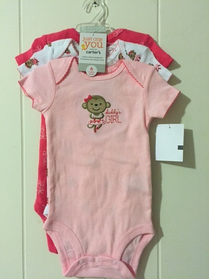 Kit Body Menina Just One You By Carters 6 Meses Novo