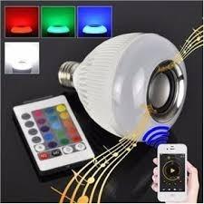 Lâmpada Led 12w Music Rgb Caixa De Som Bluetooth Inova