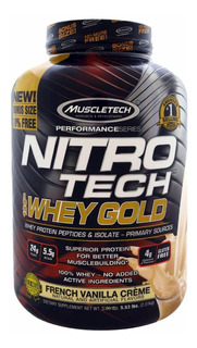 Proteina Mt Nitrotech Whey Gold 5.5 Lbs (todos Los Sabores)