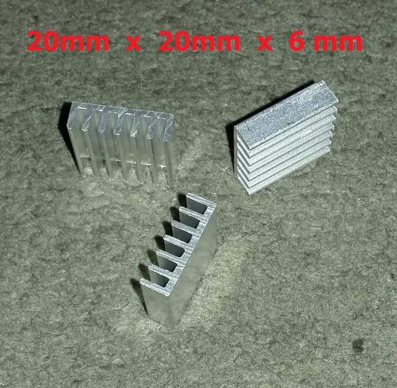 3x Dissipador Alumínio Uso Geral 20 X 20 X 6 Mm Frete $12