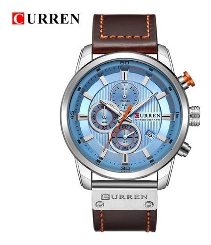 Reloj Hombre Lujo Curren 8301 Cuarzo Correa De Cuero