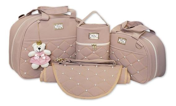 Kit Completo Bolsas De Bebe Maternidade 4 Pcs Menino Menina
