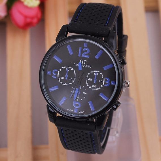 Relógio Masculino Pulseira De Silicone De Marca Gt Barato