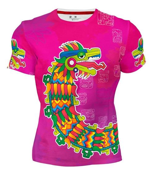 Playera Sublimada Full Print Quetzalcoált 159 Prehispanico