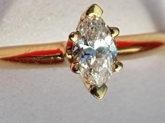 Anillo Solitario Dama Compromiso Diamante Vs1 De 34 Puntos