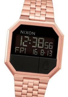 Reloj Nixon A158897 Re-run All Timer Alarma Calendario Rose Watchfan