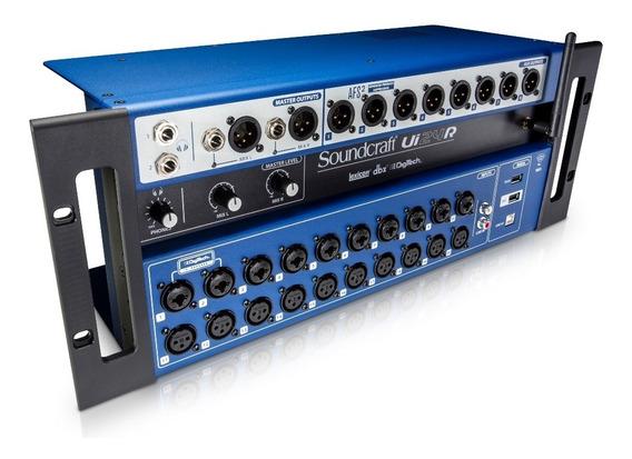 Mesa De Som Soundcraft Ui24r Usb 24 Canais Ui 24 R Wi-fi