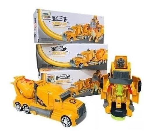 Carrinho Vira Robô Luz Som Transformers Caminhão Trator Top