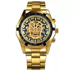 Relógio Winner Automático Mecânico Caveira Skull Masculino