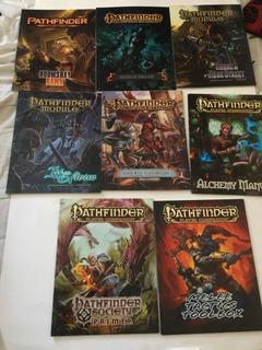 Juegos De Rol Ingles Pathfinder Pack De 8 Libros Tapa Blanda