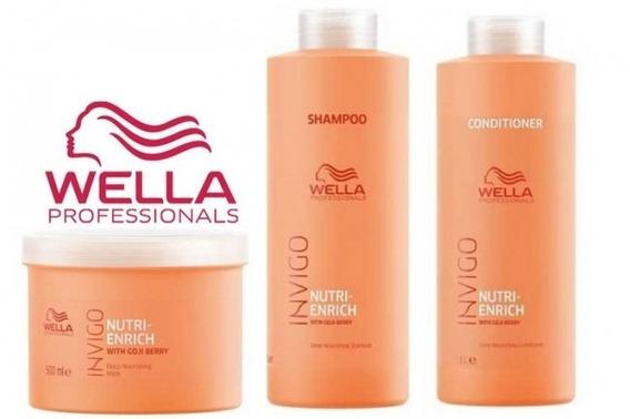 Wella Enrich Invigo Kit Hidratação Litro(3 Produtos) Oferta!