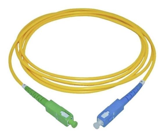 Lote 10 Cordão Óptico Patch Cord Sc/apc X Sc/upc 3m