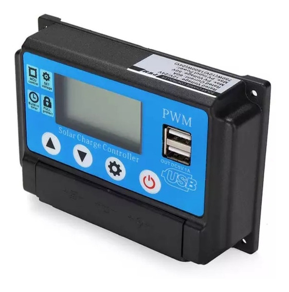 Controlador Carga Solar 60a 12v 24 V Pwm Automático Top
