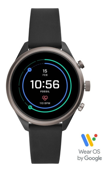 Smartwatch Unisex Fossil Sport 41 Ftw6024 Color Negro