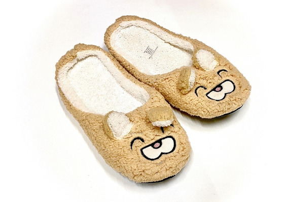 Pantufla Mujer Calientitas Tops Bottoms Mod. R1935 Oso Beige