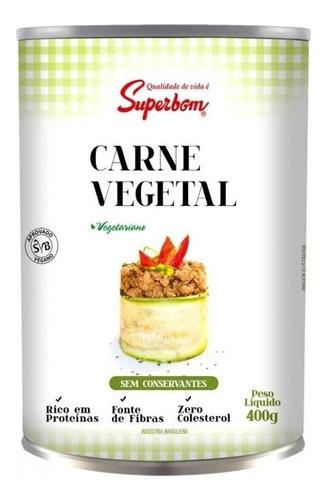 Imagem 1 de 1 de 6 Carne Vegetal Lata 400g Superbom Frete Grátis