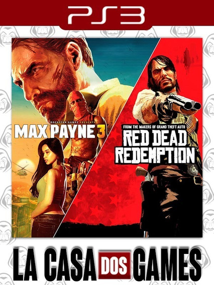 Max Payne Complete Edition 3 E Red Dead Redemption - Psn Ps3