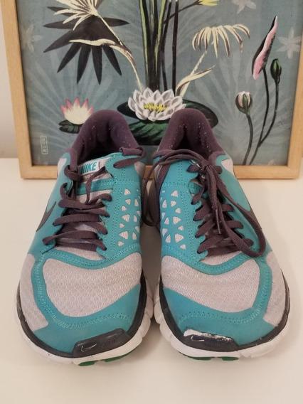 Zapatillas Nike 39 Aqua Y Gris