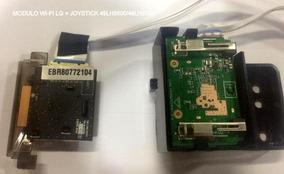 Joystick E Modulo Wi-fi Lg 49lh5600/49lh5700 - Semi-novo