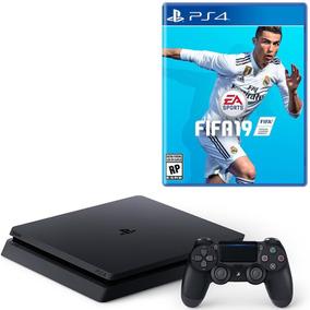 Consola Sony Play Station 4 Ps4 Slim 1tb + Joystick + Fifa19