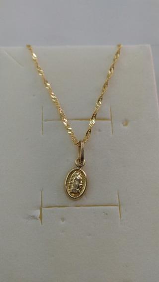 Cadena De Oro Para Bautizo Con Medalla De Guadalupe