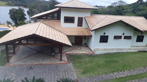 Imagem 1 de 25 de Belíssima Chácara Em Condomínio Na Cidade De Ibiúna-sp - Beira Da Represa - 40348v