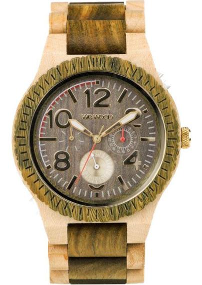 Relógio Madeira Wewood Masculino Kardo Army Beige Wwkr07 Nfe