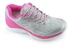 Tênis Feminino Olympikus Starter Prata Pink - Original