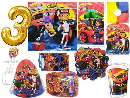 Kit Decoración Fiesta Blaze And The Monster Machines