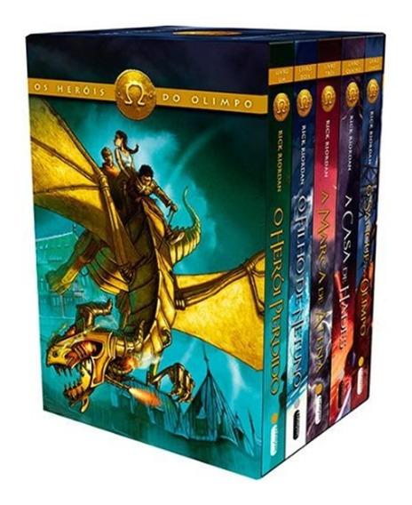 Box Heróis Do Olimpo 5 Livros - Novo Lacrado - Rick Riordan