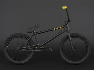 Bicicleta Bmx Pro Flybikes Proton Negra ¡cubiertas Anchas!