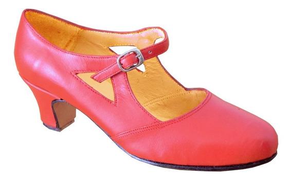 Zapato Para Español Rojo - Tango - Folklore - Jazz