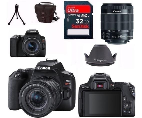 Câmera Canon Sl3+18-55 Is Stm+bolsa+tripé+32gb+para-sol Nf-e