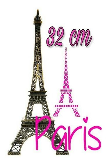 Torre Eiffel De 32 Cm Con Caja De Regalo Centro De Mesa